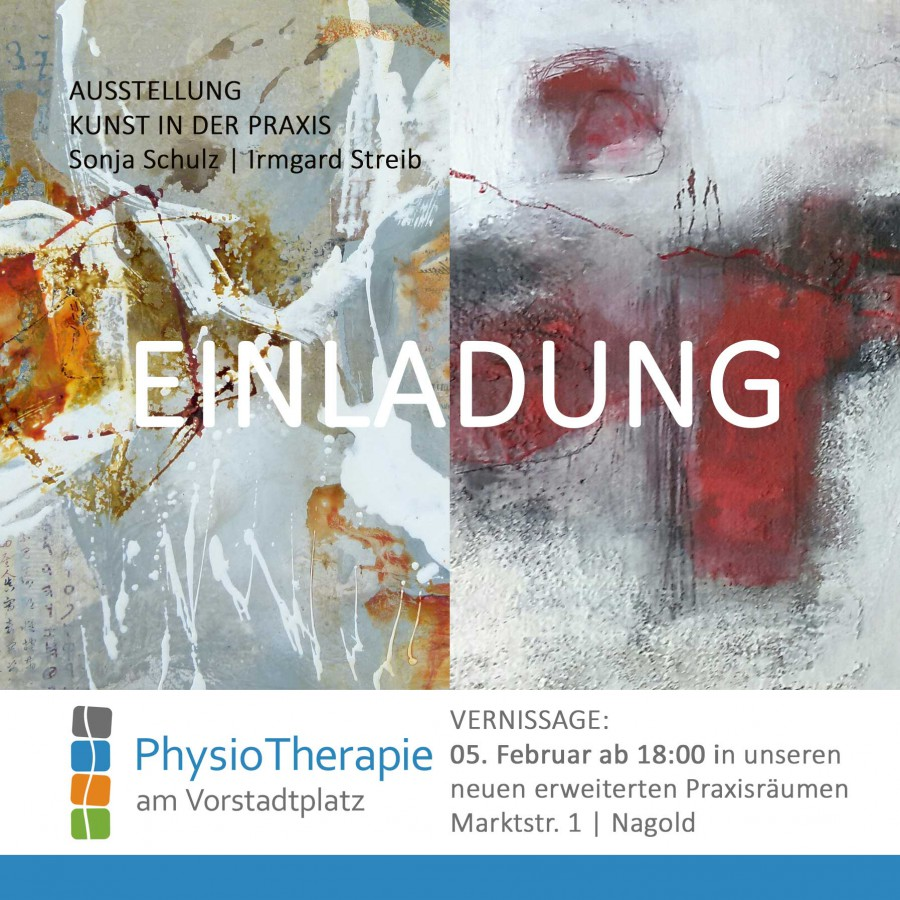 Ausstellung Vernissage Praxis Physiotherapie Nagold