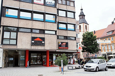 Vorstadtplatz in der Fussgängerzone in Nagold